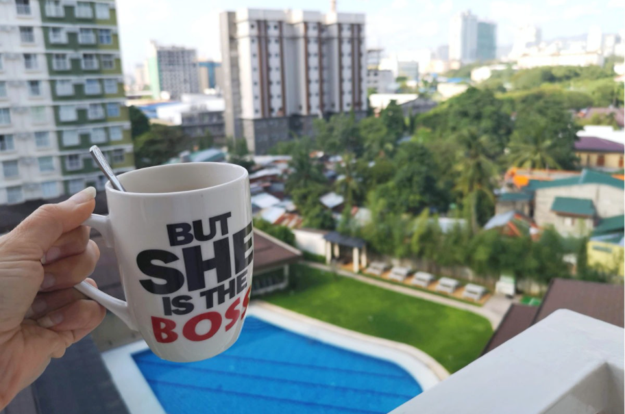 Morning coffee in Cebu City at the Airbnb Apartment